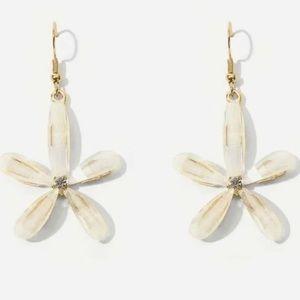 LAST! Boho flower statement earrings